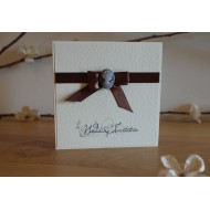 Cameo Bow Day Invitation - Fold