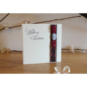 Cameo Lace Day Invitation - Fold
