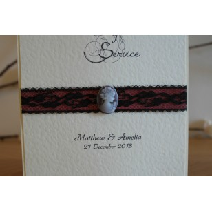 Cameo Lace Order of Service/Wedding Ceremony Booklet