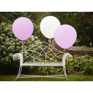 White & Pink 36 Inch Feature Balloons - Vintage Affair