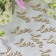 Love Words Wooden Confetto - Boho (25 Pack)