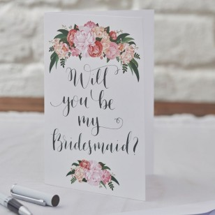 Will You Be My Bridesmaid Cards - Boho 5 Pack