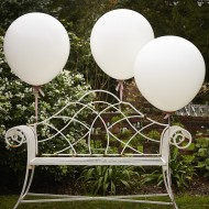 White 36 Inch Feature Balloons - Vintage Affair