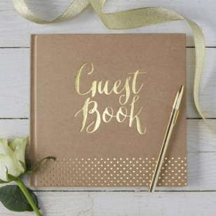 Gold Foiled Guest Book - Kraft Perfection