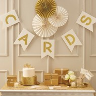 Ivory & Gold Cards Bunting - Metallic Perfection