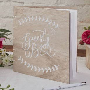 Wooden Guest Book - Boho - Ginger Ray