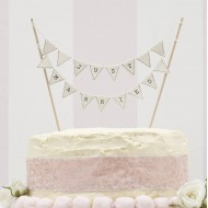 Just Married Cake Bunting - Ivory -  Vintage Affair