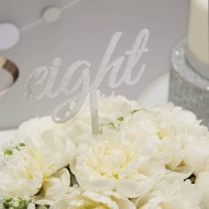 Silver Wedding Table Numbers - Metallic Perfection