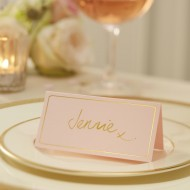 Pink & Gold Foil Place Cards - Pastel Perfection