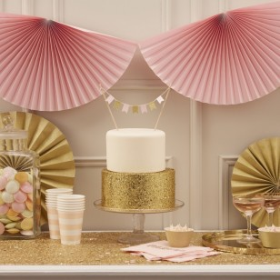 Fan Bunting - Pastel Pink - Pastel Perfection