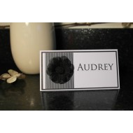25x Stripes and Flowers - Place Cards