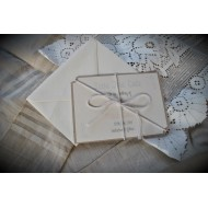 Save the Date with Recycled back and String Bow - Flat