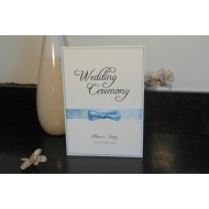 Pearl Bow Classics Range - Order of Service/Wedding Ceremony Booklet