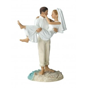 Beach Wedding Figurine - Caucasion