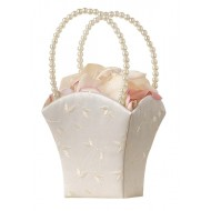 Elegant Wedding Basket Ivory