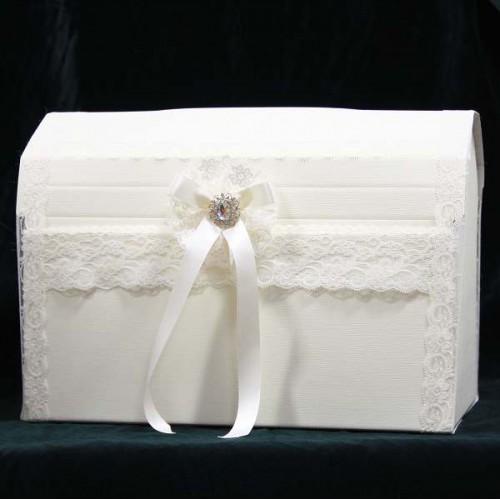 Elegant Wedding Card Post Box Decorated with Lace – Elegant Wedding Card Boxes