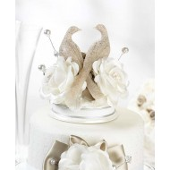 Love Birds Taupe Caketop