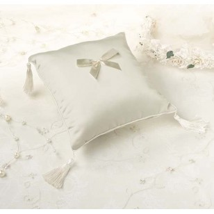 Plain Satin Ring Pillow Ivory