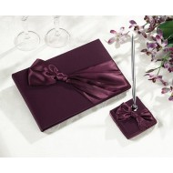 Plum Guest Book & Pen Set