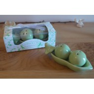 Sandalwood fan favors - Two peas in a pod salt and pepper shakers ...