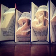Table Number Folded Book Art - Centrepiece
