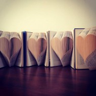 Love Heart Folded Book Art - Prop