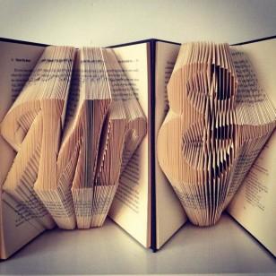 `Mr & Mrs` Folded Book Art - Prop