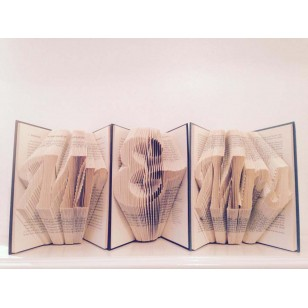 `Mr & Mrs` Folded Book Art - Prop