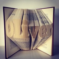 `Your Name` Folded Book Art - BOLD