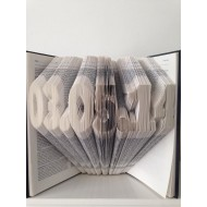 Any Date Folded Book Art