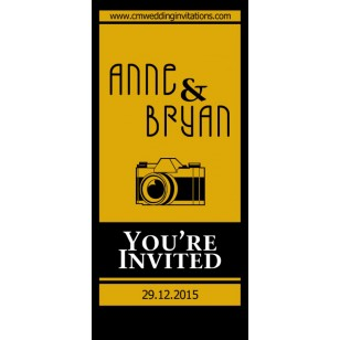 Camera Roll Wedding Invitations - Sold in groups of 10