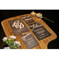 Chalk Board Inspired bespoke Wedding Invitation