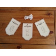 5x Table Plan Tags with String