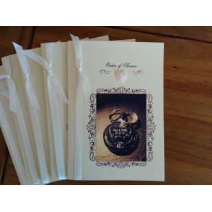Booklet with Heart Embellishment and your own Image. Insert printing included!