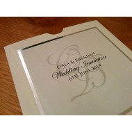 Elegant Silver framed Pocket Invitation
