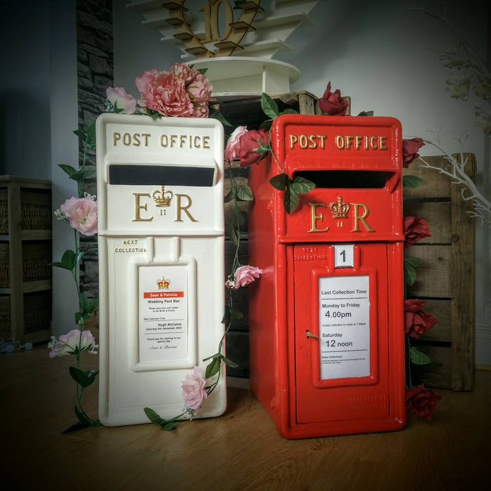 Royal Mail Wedding Postbox Hire Red